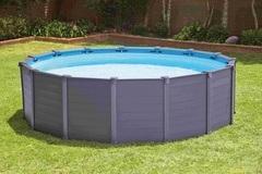 INTEX Frame Pool Graphit 4,78 x 1,24m s pískovou filtrací