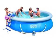 Bazén Bestway 3,66 x 0,91m kartušová filtrace + schůdky