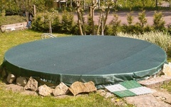 Krycí síť na bazén o průměru 3m