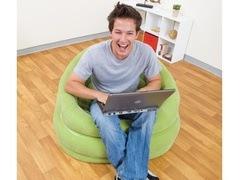 Nafukovací křeslo Intex Loungen Cafe Chair zelené
