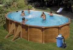 Bazén GRE Pacific 6,1 x 3,75 x 1,2m set + písková filtrace 7m3/h