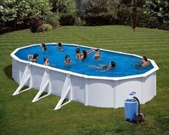 Bazén GRE Fidji 7,3 x 3,75 x 1,32m set + písková filtrace 7m3/h