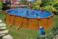 Bazén GRE Pacific 6,1 x 3,75 x 1,32m set + písková filtrace 7m3/h