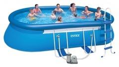 Bazén INTEX 3,66 x 6,10 x 1,22m s kartušovou filtrací