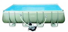 Bazén INTEX Rectangular Ultra Frame 5,49 x 2,74 x 1,32m set + písková filtrace 4m3/hod