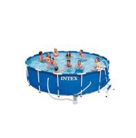 Bazén INTEX Metal Frame 4,57 x 1,07m set včetně příslušenství