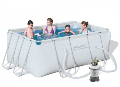 Bazén Bestway s konstrukcí 2,87 x 2,01 x 1,00m písková filtrace 2m3/hod