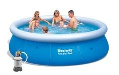 Bazén Bestway 3,66 x 0,91m písková filtrace 2m3/hod