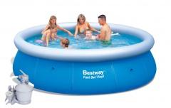 Bazén Bestway 4,57 x 0,91m set + písková filtrace 3,7m3/hod