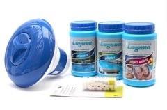 I.Základní set na chlorové ošetření vody (Triplex tablety, pH-, pH+, tester, plovák)
