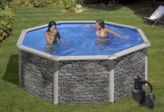 Bazén GRE Iraklion 2,4 x 1,2m set + písková filtrace 4,5m3/h