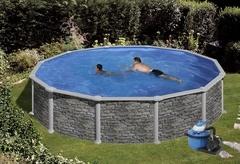 Bazén GRE Iraklion 3,5 x 1,32m set + písková filtrace 5,5m3/h