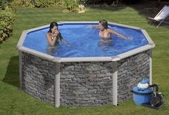 Bazén GRE Iraklion 4,6 x 1,2m set + písková filtrace 5,5m3/h