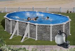 Bazén GRE Iraklion 9,15 x 4,7 x 1,32m set + písková filtrace 8m3/h